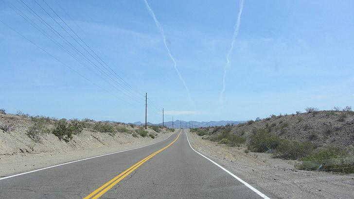 USA, motorväg, Road, Kalifornien, Wave kammar, rutt, 66