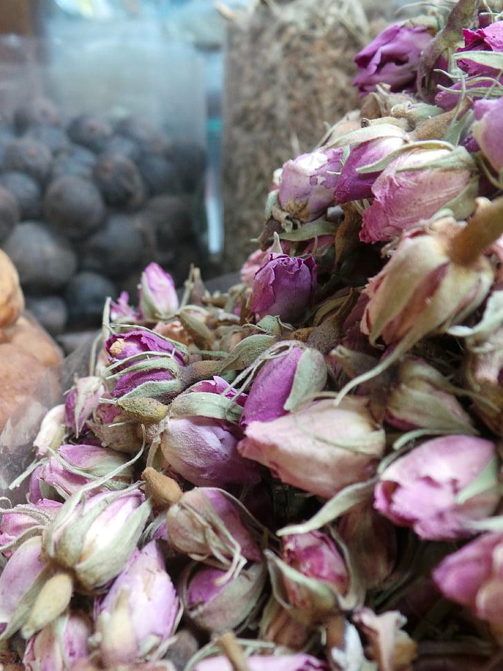 herbes, mercat, flors seques, flors