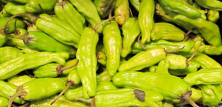 tšillipipar, kuum, Vürtsikas, roheline, toidu, soojuse, värske
