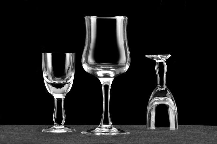 vidre, fons negre, ratlles blanques, calze, Copa de vi negre