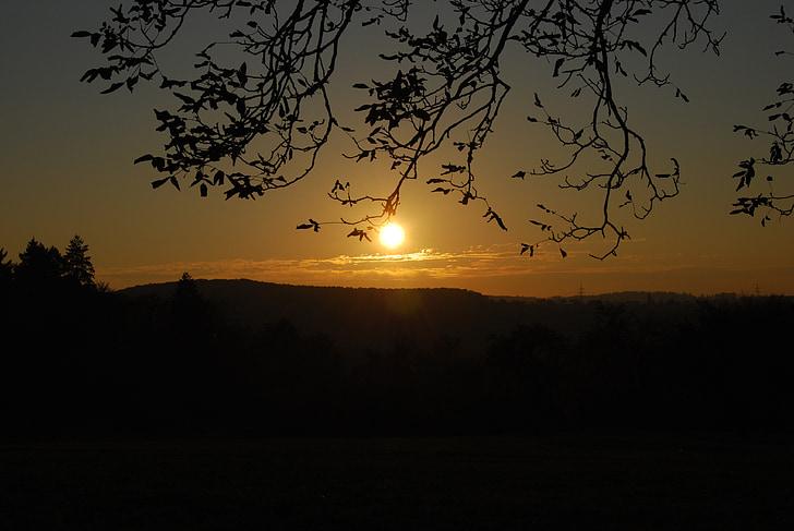 indian summer, sunset, back light, evening, rest