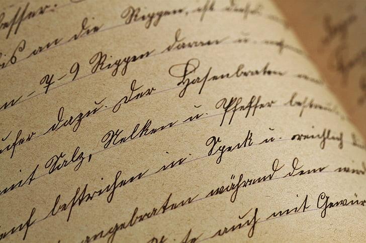 texture, handwriting, sütterlin, vintage, antique, font, stationery