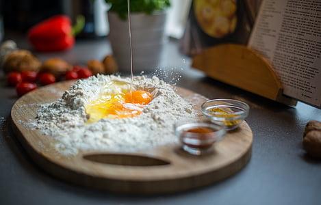 sadalīšana, olu, Mīklas, virtuves, recepte, ēdiena gatavošanai, pārtika