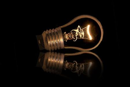 glödlampa, glödlampor, version, ljus, Glow wire, gänga, bytte
