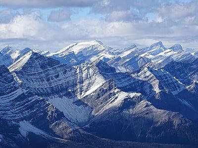 fred, paisatge, muntanyes, natura, a l'exterior, Muntanyes Rocalloses, escèniques