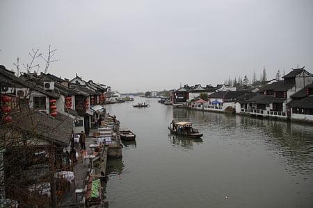 vent de Xina, Jiangnan, Watertown, vaixell, vaixell, Xangai