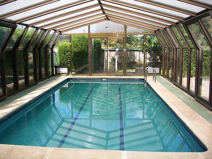 heated swimming pool, water, bathroom, relax