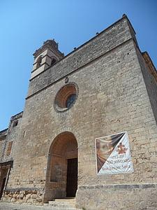 Petra, templom, Mallorca, monumentális, építészet, Spanyolország, épület