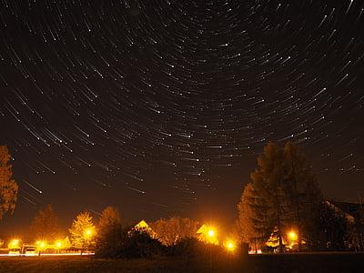 звезда, нощ, светлина, небе, звездното небе, тъмно, нощното небе