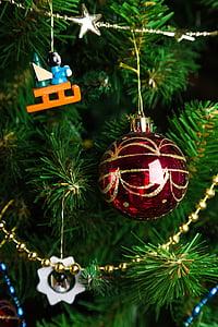 decoratiuni de Craciun, pomul de Crăciun, jucării de brad de Craciun, vacanta, Ornament, minge de ajunul Anului Nou, Jucarii