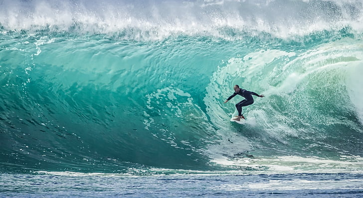 ona, surfista, esport, Mar, navegar per, l'aigua, oceà