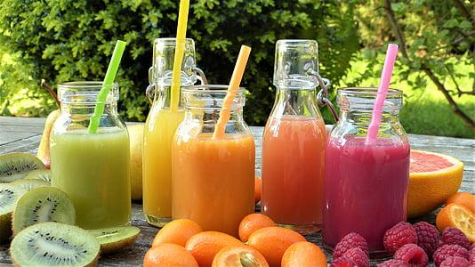 Smoothies, šťava, ovocie, ovocie, zrelé, Bio, zdravé
