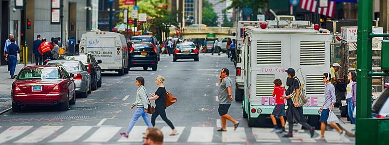 Nova york, ciutat, Banner, capçalera, ciutat de Nova york, urbà, carrer