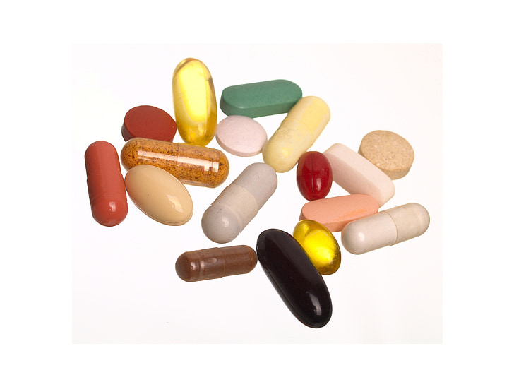 tabletten, wit, de achtergrond, apotheek, de ziekte, ziek, Cure