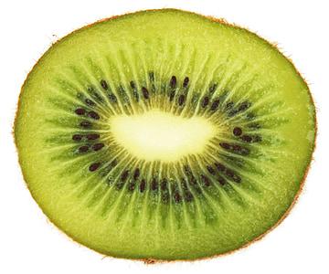 Kiwi, plasterek, zielony, witaminy, owoce, jeść, vegetale