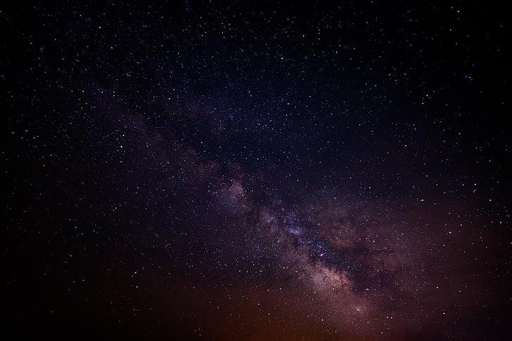 svart, brun, galakse, plass, Star, astrologi, Melkeveien