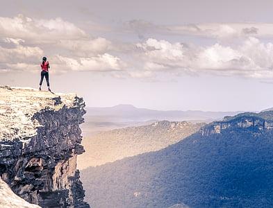 adventure, cliff, climb, climber, exploration, hike, landscape