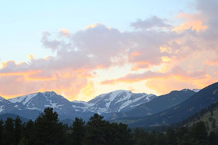colorado, rocky mountain, sunset, mountain, scenics, mountain range, beauty in nature