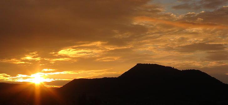 landskap, solnedgång, Horisont, naturen, Mountain, Utomhus, Sky