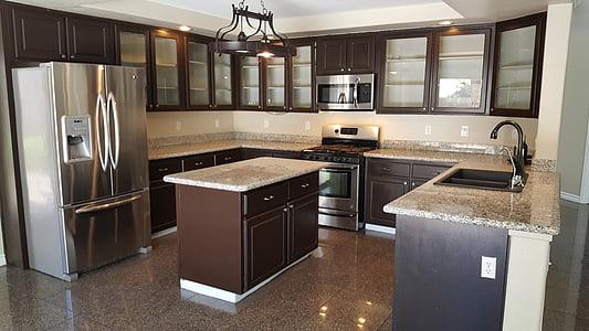 virtuvė, Nekilnojamasis turtas, dizainas, gyvenamųjų namų, vidaus virtuvė, namų interjeras, šiuolaikinės