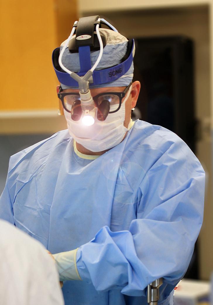 kirurgi, læge, kirurg, operation, Hospital