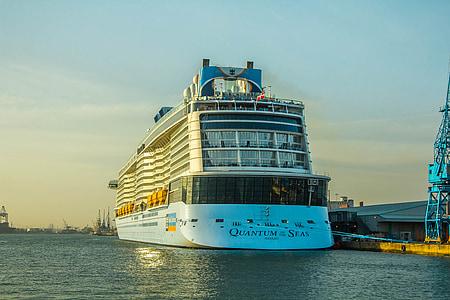 quantum av haven, Ocean, Cruiser, fartyg, hamn, Sverige, hamnen