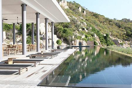 Açık Yüzme Havuzu, otel, tatil, manzara, geri kalan, yaz tatili