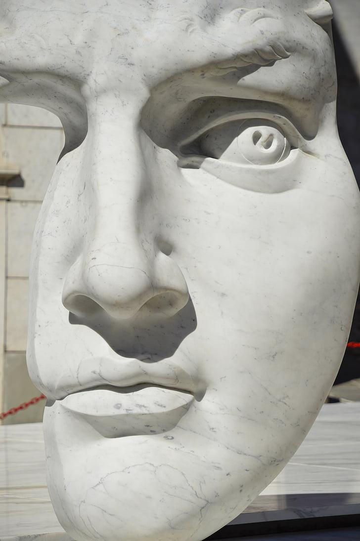 мрамор, Каррара, скульптура, Тоскана, Италия, Мрамор Carrara