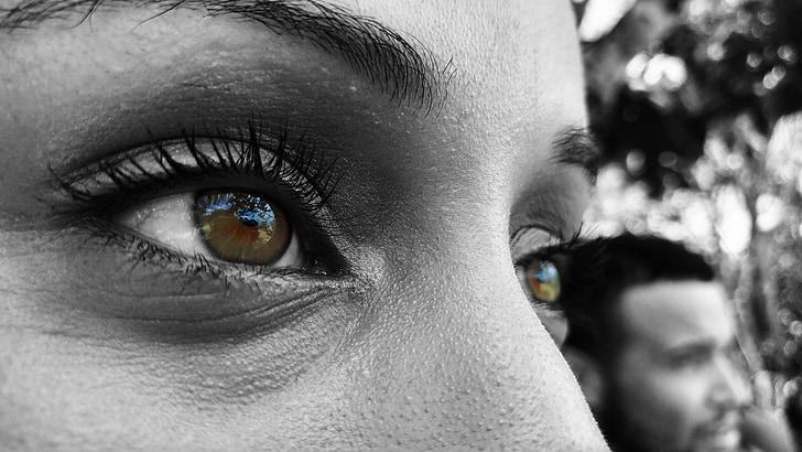eyes, woman, girl, look, face