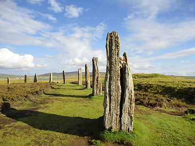 orkney island, ring of brodgar, stone circle, landscape, mystical, place of worship, archaeology