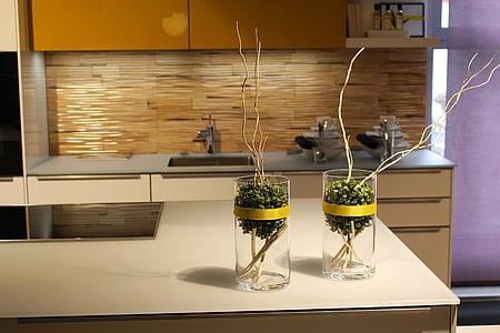 keuken, decoratie, keukenapparatuur, luxe