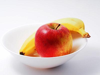 яблоко, банан, питание, спелый, вкусный, питание, фрукты