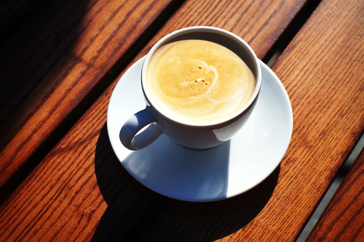 kopi, matahari, cangkir kopi