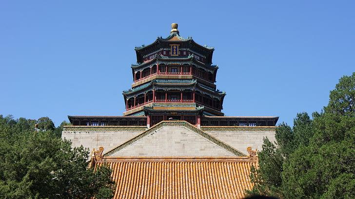 Chiny, Wschód, Summer Palace, Beijing, Architektura, Azja, słynne miejsca