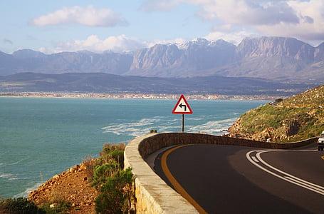 cape town, south africa, coastal road, sea, ocean, mountains, landscape