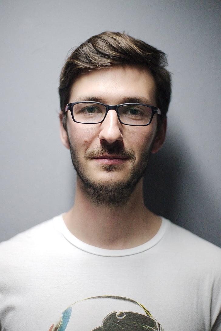 smile, profile, face, male, portrait, young, person