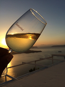 Santorini, Vinarija, vino, zalazak sunca, degustacija, Grčka, alkohol