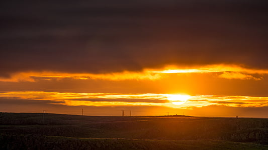 solnedgång, Afterglow, solen, kvällshimmel, abendstimmung, kvällen, Twilight