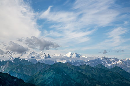 mountains, view, alpine, nature, switzerland, swiss alps, landscapes