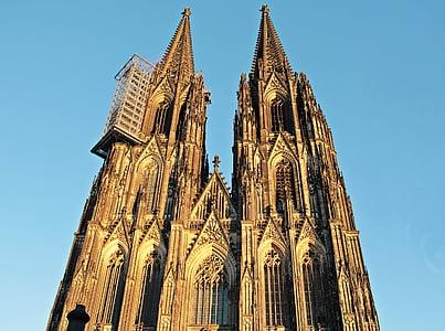 Nhà thờ Cologne cathedral, Dom, lịch sử bảo quản, ngọn tháp, kiến trúc, Cologne trên sông rhine, Nhà thờ