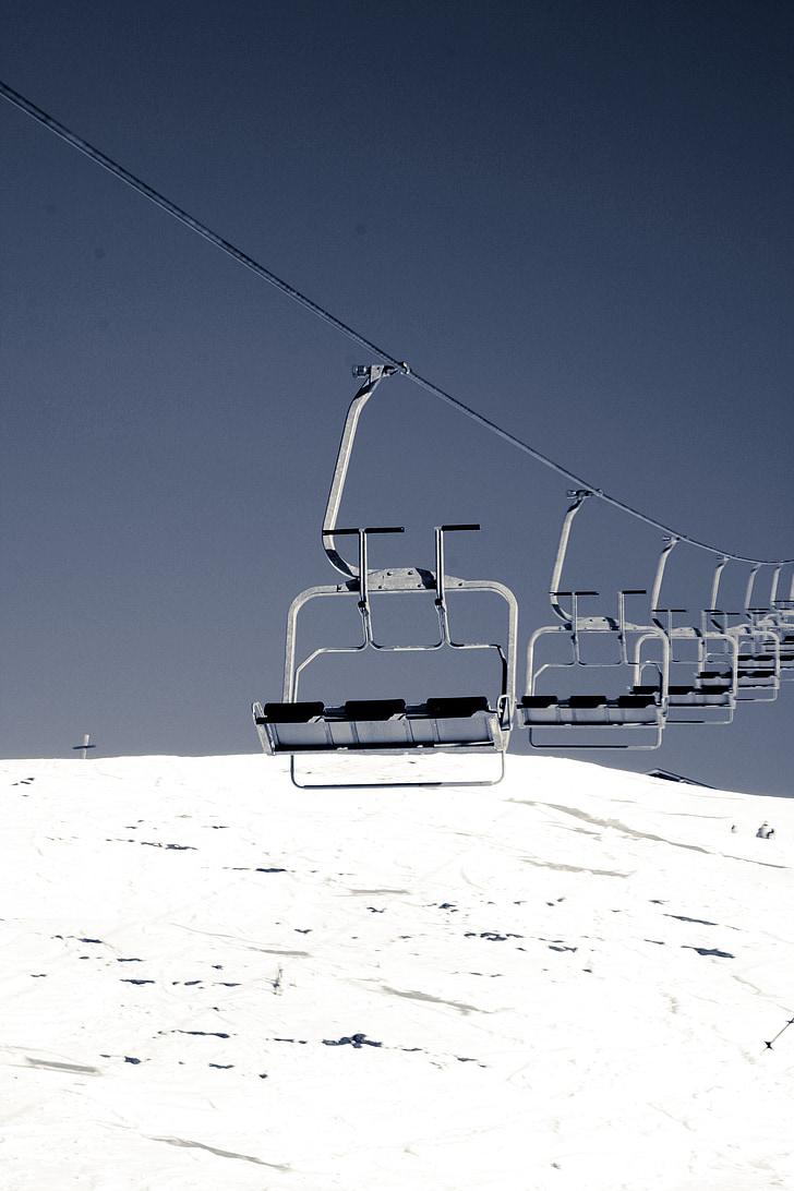 sífelvonó, Lift, felvonó, téli sportok, síelés, hó, alpesi