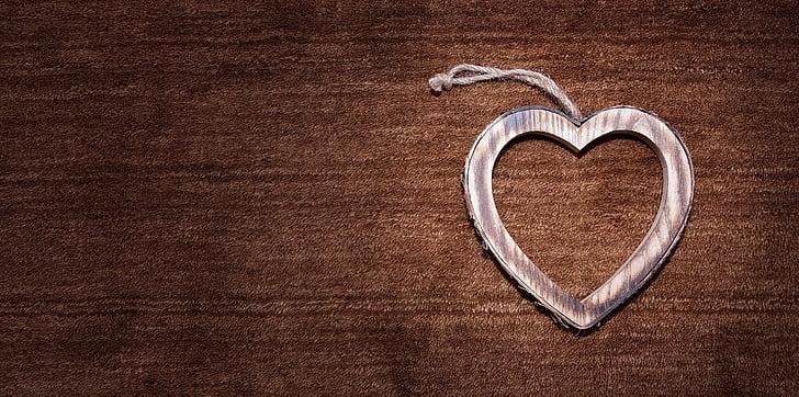 hjerte, symbol, Kærlighed, træ hjerte, symbolik, kærlighed symbol, Deco