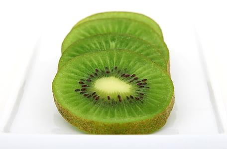 Kiwi, rodanxes, fons, amarg, esmorzar, brillant, c