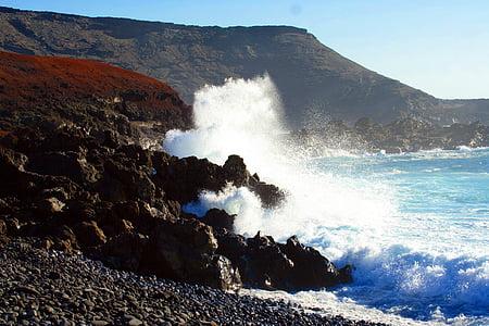 navegar per, ona, Mar, escuma de mar, Atlàntic, Roca, ruptura d'ona