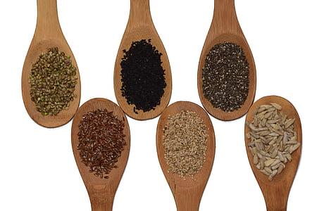 Seminte, Seminte de floarea soarelui, Chia, Susan, seminţe de in, Seminte de Cannabis, chimen negru