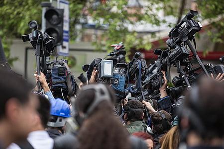 press, camera, the crowd, journalist, news, wonder, live broadcast