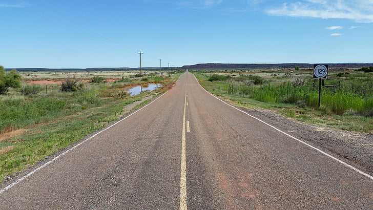 Road, motorväg, avstånd, perspektiv, Horisont