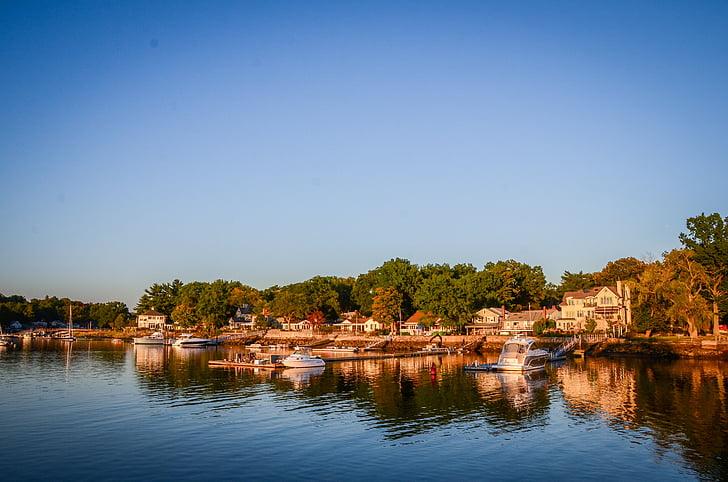 Cases de davant del mar, platja, passeig marítim, l'aigua, casa, residencial, rics