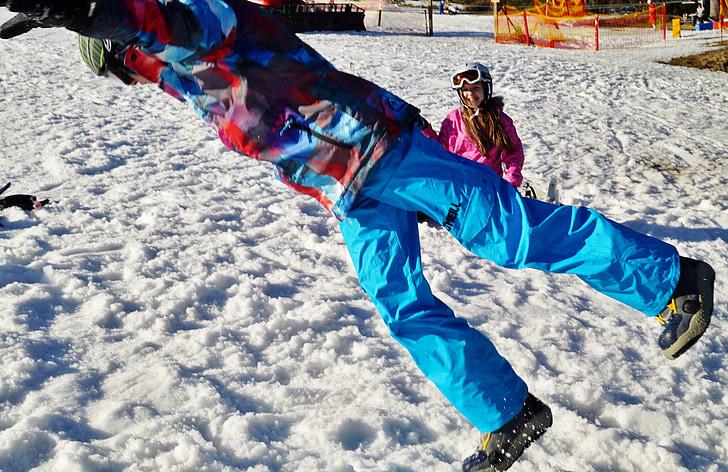l'hivern, neu, salt, plaer, diversió, muntanyes