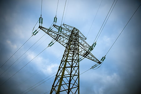 strommast, power line, energy, stromkosten, current, pylon, landscape